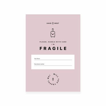 Наклейка на валізу Fragile